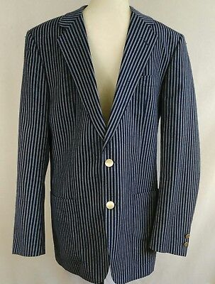 VTG Konen For Armand Boudrais Mens Blazer Size EUR 50R US 40R Blue 2 Button