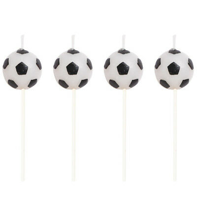 All-Star Soccer Pick Candles 4 Pack Birthday Party Decorations
