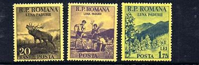 STAMPS Romania  Month of Forest  (MINT NO GUM) 1954 Mi 1464-1466 Lot A117