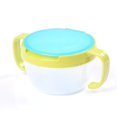 1X Toddler Baby No Spill Active Snack Snacker Useful Container Free Bowl Cup FO