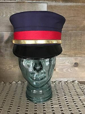 """Antique Railroad Conductor Hat William Scully size 7 3/8"""""""
