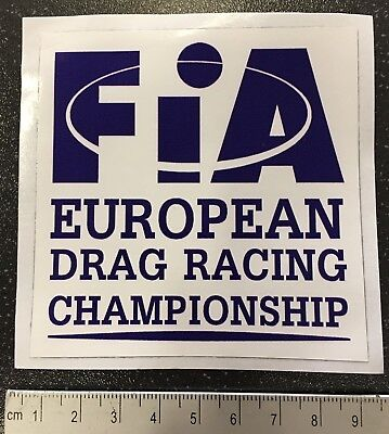 Official FIA Drag Racing Championship WINDOW Sticker.