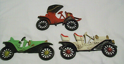 Lot of 3 Midwest Vintage Metal Early 1900's Vehicles for Wall Hanging/Mounting