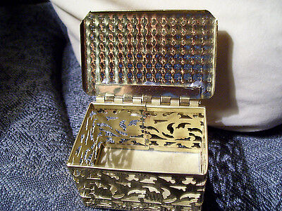 "Superb Brass box Colony Metalsmiths *GLOUCHESTER Virginia*. 1960s??- 3.5"" X 2"""