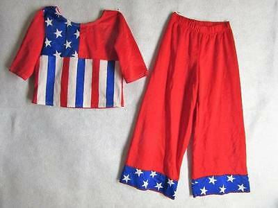 Halloween 4th of July Costume Dance DRESS UP Play Sz 5 6 RED WHITE BLUE Cicci