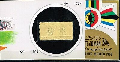 State Of Oman.1968 Summer Olympics Game.Gold.Folda.MNH**