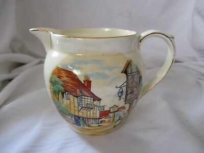 Royal Winton Ye Olde Innes small pitcher yellow syrup cream Dutch