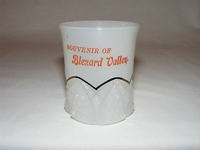 Antique Rare Early Canadian Pressed Glass Souvenir Tumbler Cup Blezard Valley