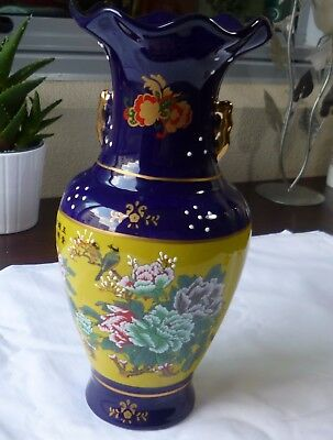 Home decoration---Chinese Porcelain  fortune(富贵) flower and birds  vase H29cm