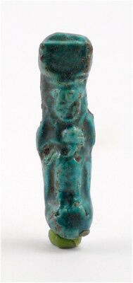 Egypt Late Period  26-30th Dynasty a faience amulet of Isis and Horus