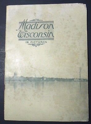 1921 Madison Wisconsin In Pictures ~Madison Association of Commerce ~ Ephemera