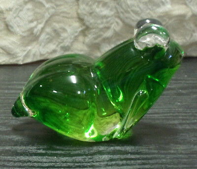 "Fifth Avenue Crystal Frog Handmade Art Glass Bubbles 4.75""L x 3.25"" H x 2.75"" W"