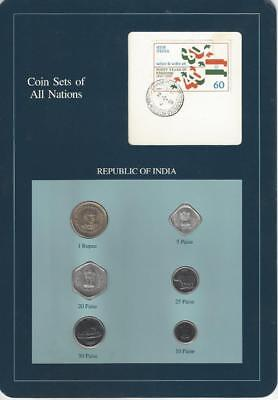 Coin Sets of All Nations - India, Blue Card