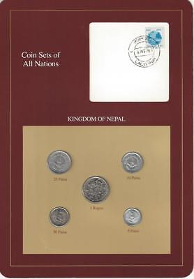 Coin Sets of All Nations - Nepal, Brown card