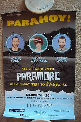 Paramore PARAHOY Signed POSTER - Exclusive to the 2014 PARAHOY Cruise!