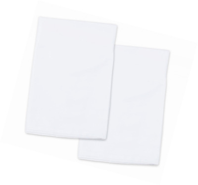 2 White Toddler Pillowcases - Envelope Style - For Pillows Sized 13x18 and 14x19