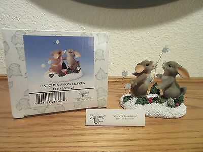 Charming Tails Catch'in Snowflakes Limited Edition Figurine