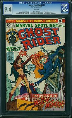 MARVEL SPOTLIGHT #11 CGC 9.4 Ghost Rider app! White Pages!