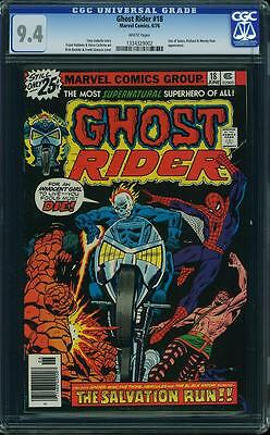 GHOST RIDER #18 CGC 9.4 Spider-Man App! TOUGH BLACK COVER! White Pages!