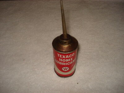 Empty Texaco Home Lubricant 3 Ounce Can from before 1963