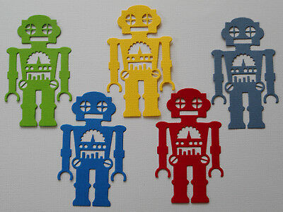 Robot Paper Die Cuts x 2 Sets Boys Scrapbooking Embellishment - Not a Die