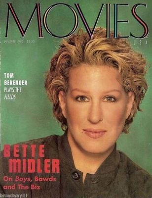 "BETTE MIDLER ""For the Boys"" with JAMES CAAN 1992 San Francisco ""MOVIES"" Magazine"