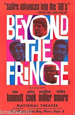 """Dudley Moore """"BEYOND THE FRINGE"""" Peter Cook / Alan Bennett 1962 Tryout Flyer"""
