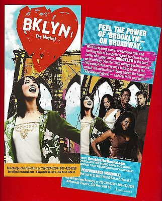 "Eden Espinosa ""BKLYN"" (Brooklyn) Cleavant Derricks / Karen Olivo 2004 Flyer"