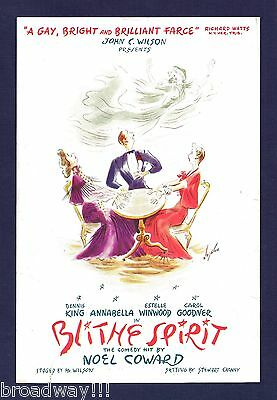 "Noel Coward ""BLITHE SPIRIT"" Dennis King / Estelle Winwood 1942 Chicago Flyer"