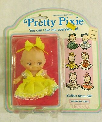 Pretty Pixie Doll by Uneeda New in Package Yellow