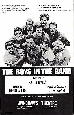 "Mart Crowley ""BOYS IN THE BAND"" Kenneth Nelson / Leonard Frey 1969 London Flyer"
