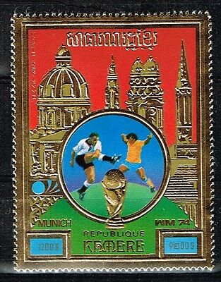 Khmer.1974 World Cup.Soccer.Football.Fussball.Gold.MNH**