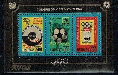 Uruguay.1974 World Cup.Soccer.Football.Fussball.MNH**