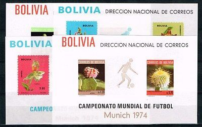 Bolivia.1974 World Cup.Soccer.Football.Fussball.4 S/S.Full Set.MNH**