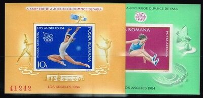 Romania.1984 Summer  Olympics Game.2 S/S.Imperforated.MNH**