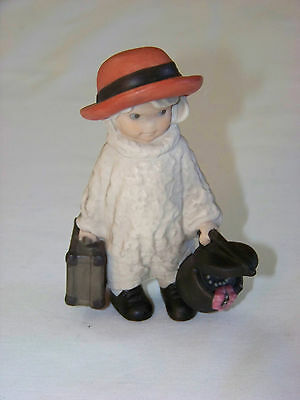 Enesco: Pretty As A Picture - ALMOST HOME FOR HOLIDAYS #376531 Girl w/ suitcase