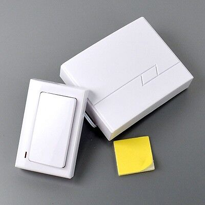 62A8 Wired Electronic Doorbell White Home Door Bell ABS Supplies Accessories