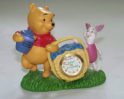 DISNEY: POOH & PIGLET - Fantasma Desk CLOCK -  BEST FRIENDS Picnic