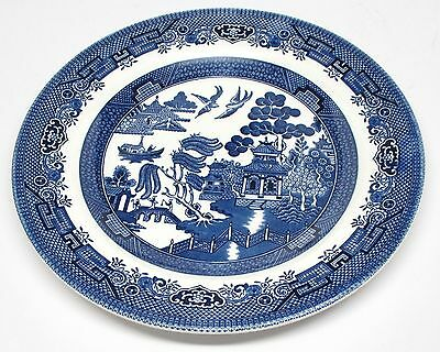 Churchill - Blue Willow - Dinner Plate - Made in England - C