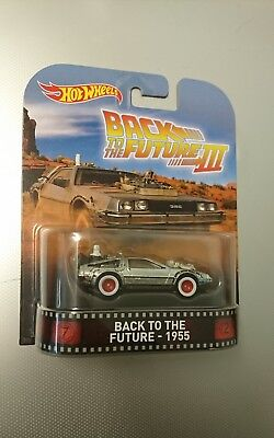 Back To The Future Part III 3 1955 Time Machine Hot Wheels 1/64 Real Riders NEW!