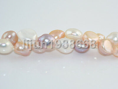 "New 12-13mm barpque multicolor freshwater cultured pearl loose bead 15""AAA"