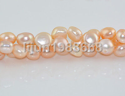"New 12-13mm barpque PINK freshwater cultured pearl loose bead 15""AAA"