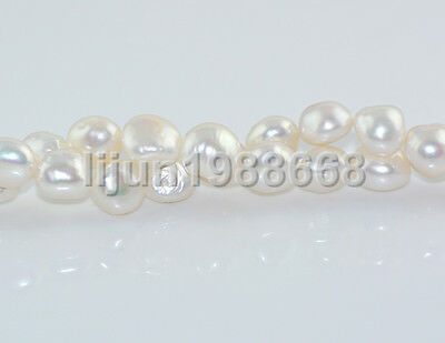 "New 12-13mm barpque white freshwater cultured pearl loose bead 15"" AAA"