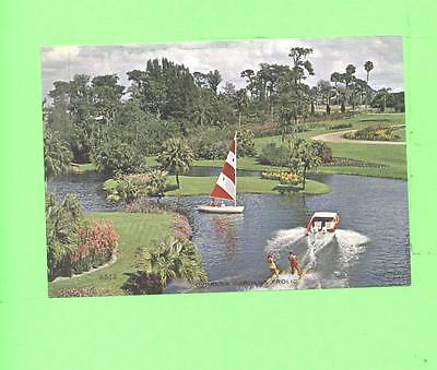 Vintage Calendar Image Sailing Time Water Skiing Time Cypress Gardens