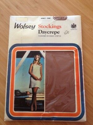 Wolsey Daycrepe Fashion 60 Denier Honey Tone Nylon Stockings (size Unknown)(bx21