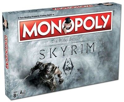 Monopoly - Skyrim Edition Monopoly Board Game NEW
