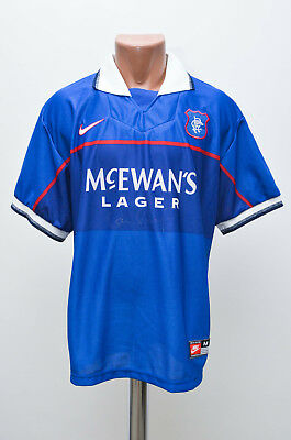 Glasgow Rangers Signed 1997/1998 Home Football Shirt Jersey Nike Scotland