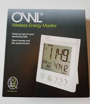 NEW OWL Wireless Energy Monitor 6 AA Energizer Batteries Included