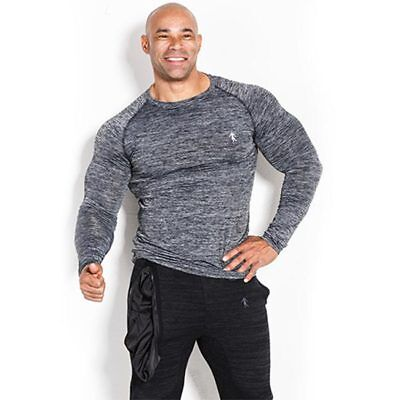 Kevin Levrone - Long Sleeve Man's Dark Grey, Longsleeve, Long T-Shirt