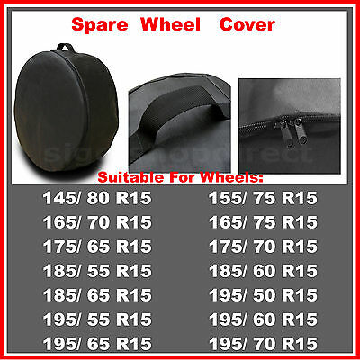 4 x R15 Spare Wheel Cover Tyre Tire Storage Bag Car Van Caravan Motorhome RW53